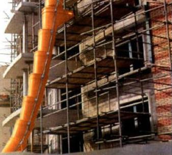 demolition chute scaffold