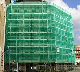 shade cloth safety scaffolding