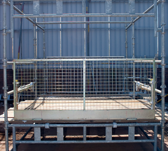 loading bay safety scaffold