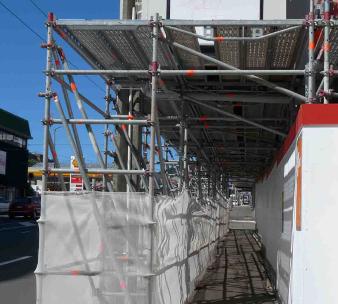 pedestrian access scaffolding